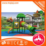 Corrediça ao ar livre do campo de jogos da casa do jogo dos miúdos do equipamento do divertimento para a venda