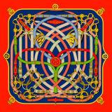 Изготовленный на заказ шарфы печатание 100% цифров Silk (F13-0016)
