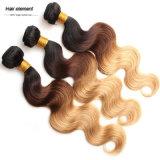卸し売り編むRemyの毛の加工されていないバージンのブラジルの人間の毛髪