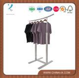 Edelstahl-Kleidungs-Bildschirmanzeige-Zahnstange für Kleid
