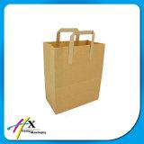 Bolso personalizado del regalo del papel de Kraft para el acondicionamiento de los alimentos