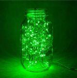 Свет шнура зеленого цвета EU приведенный в действие переходникой звёздный для домашнего украшения