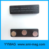 Crachá de nome magnético plástico ABS com logotipo adesivo