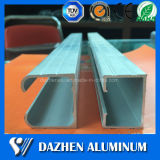 6063 Guía de aleación de aluminio Ferrovía extrusión de perfiles con anodizado
