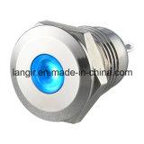 indicatore della lampada pilota del Anti-Vandalo del segnale del metallo sigillato di 12mm