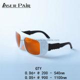 Linha 532nm & 1064nmfor 2 óculos de proteção de segurança dos óculos de proteção do laser de YAG da proteção do laser e de Ktp/laser para o doutor