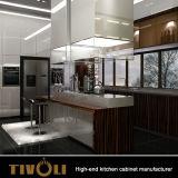 Hoge het Meubilair van de Keuken van het Ontwerp van de douane polijst Keukenkasten tivo-0038V