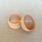 リングのネックレスのイヤリングのためのカスタム小さい円形のブナの木箱