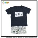 Terno infantil unisex do sono do vestuário redondo do bebê da garganta