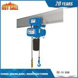 Única grua Chain elétrica de levantamento da velocidade com ganchos (ECH 03-03S)