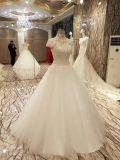 Neue Hochzeits-Kleider der Ankunfts-2017 Spitzender prinzessin-Marriage Floor Length