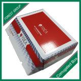 Cadre de empaquetage d'impression intérieure de blanc de couleur rouge