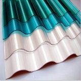 屋根ふきのパネルのための紫外線上塗を施してある透過波形の固体ポリカーボネートシート