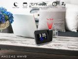 Reloj de alarma controlado de radio de la proyección con Wwvb
