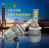 Lumières de moto de lumière de phare de véhicules de phare de C6 DEL