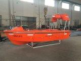 Botes de salvamento rápidos del SOLAS con el barco inflable del casco rígido de la defensa de las personas 6-15 con el pescante de la aplicación de lanzamiento