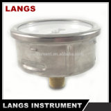 Fábrica 077 calibrador inoxidable de la presión del aceite de 63 productos de acero del milímetro