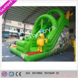 子供および大人のコマーシャルのためのLilytoysの巨大で膨脹可能なスライドはスライド、スライドの警備員のゲームを使用した