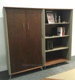 Scaffale per libri di cuoio di legno di disegno contemporaneo (C28)