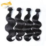 Extensiones brasileñas del pelo de la armadura del pelo sin procesar negro natural de la Virgen