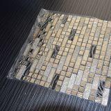 Heißes Verkaufs-Gold und weiße Kristallglas-Mosaik-Fliese