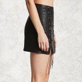 Платье краткости юбки повязки имитационной кожи женщин способа сексуальное