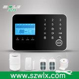 Sistema de alarme sem fio da rede dupla do teclado do toque de LCD/APP/GSM/PSTN