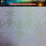 Классицистический жаккард цветка сбор винограда, ткань жаккарда Twill полиэфира (1)