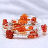 La forme de lame orange d'érable allume les lumières d'intérieur de chaîne de caractères de la basse tension DEL de Dimmable USB