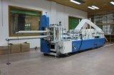 Automatisch auf dem Kleber und der Drucken-prägenserviette-faltenden Maschine
