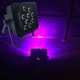 Neue Ankunft 12LEDs*15W 5in1 Rgbawv färbt batteriebetriebenes Radioapparat LED NENNWERT Licht Freedoom Stadiums-Licht 6/10CH