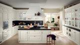 Gabinete de cozinha branco do PVC do bom estilo de Priceindian