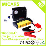 Ripetitore di inizio di salto della batteria del dispositivo d'avviamento 12V di salto dell'automobile di SOS LED 16800mA