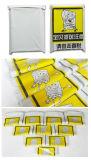 لون بلاستيكيّة صفراء يطبع علامة تجاريّة شحن ساعي يرسل حقيبة