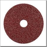 '' disco que enarena de la fibra abrasiva del óxido de aluminio de la pulgada 5