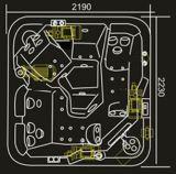 2230mm Outdoor SPA voor 5 Mensen (bij-8809)