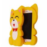 Caja linda del teléfono del silicón del iPhone 7 7plus 3D del Fox de la historieta para los accesorios del iPhone (XSDW-084)