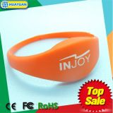 Wristband di gomma astuto classico del braccialetto 1K RFID di 13.56MHz MIFARE