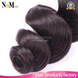 Уток человеческих волос волос девственницы Brazlian (QB-BVRH-LW)