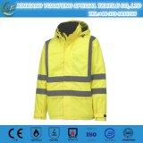 Alta visibilidad del ANSI 107 que calienta la chaqueta reflexiva de la seguridad