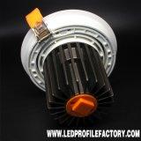 공장 가격 Trimless Downlight 주거 LED Downlight 옥수수 속에 있는 Td030