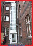 Concreto y eje Contruction del ladrillo para la elevación casera