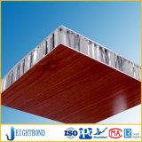 el panel de aluminio del panal del grano de madera de 20m m para los revestimientos de la pared interior