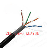 Cable doble al aire libre del ordenador del cable del cable UTP de la comunicación de la red de la envoltura UTP Cat5e/Cable