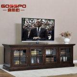 Antiker Holz Fernsehapparat-Standplatz-Schrank mit Glastüren (GSP15-002)