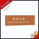 Сторона логоса одного печатание напечатала бирку Hang 300GSM для одежды женщин