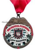 Médaille de récompense de sport pour le marathon, émail mol, lanière, Caroline Brewsfest