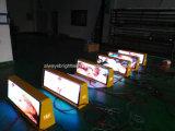 Muestra al aire libre vendedora caliente de la tapa LED del taxi 2016 P5, haciendo publicidad de la visualización de LED del taxi