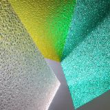 Feuilles de polycarbonate gravées en relief par couleur ignifuge de construction