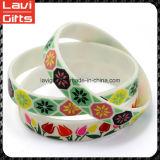 Colorido encargo de la moda pulsera de silicona con Promoción